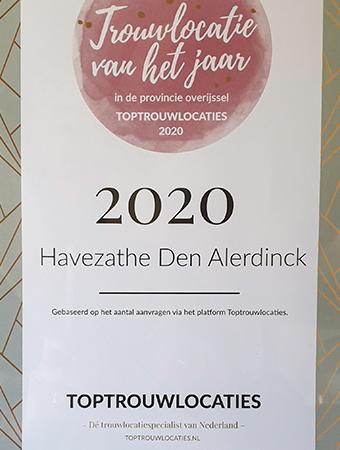 Trouwlocatie van het jaar 2020
